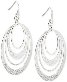 Multi-Ring Gypsy Hoop Earrings in Sterling Silver