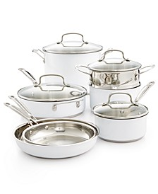 Chef's Classic Stainless Steel Color Series 11-Pc. Cookware Set