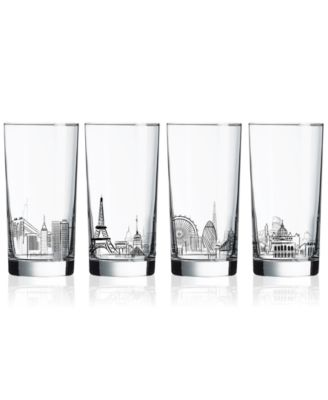 Skylines 4-Pc. Highball Glass Set