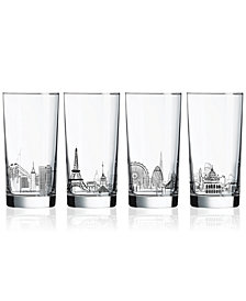 Luminarc Skylines 4-Pc. Highball Glass Set