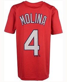 Yadier Molina St. Louis Cardinals Poly Player T-Shirt, Big Boys (8-20)