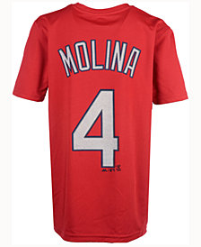 Majestic  Yadier Molina St. Louis Cardinals Poly Player T-Shirt, Big Boys (8-20)