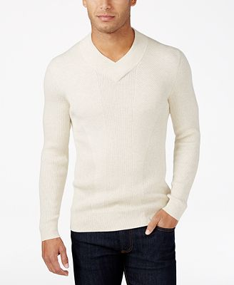 INC International Concepts Men's Ribbed V-Neck Sweater, Created ...