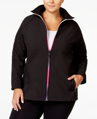 Ideology Plus Size Soft-Shell Jacket, Only at Macy's