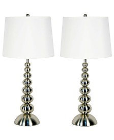 Kenroy Home Baubles 2-Pc. Table Lamp Set