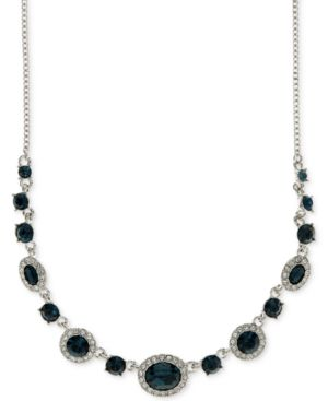 ROUNDED CRYSTAL AND PAVE COLLAR NECKLACE
