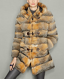 The Fur Vault Fox Fur Hooded Parka