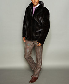 The Fur Vault Men's Mink Fur Bomber Jacket