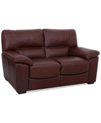 bolivar leather loveseat only at macyu0027s