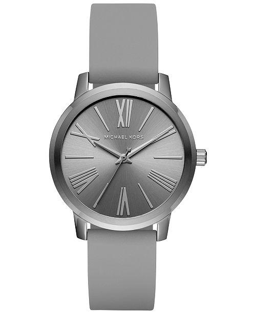 Michael Kors Women's Hartman Grey Silicone Strap Watch 38mm MK2638, Created for Macy's