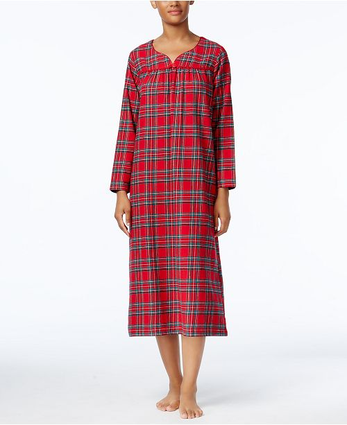 Charter Club Printed Flannel Nightgown Created For Macys Bras