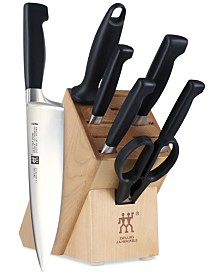 Zwilling Four Star Anniversary 8 Piece Friodur Blade Knife Block Set