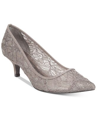 Adrianna Papell Lois Lace Evening Pumps