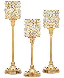 Godinger Lighting by Design 3-Pc. Crystal Taper Candlestick Set