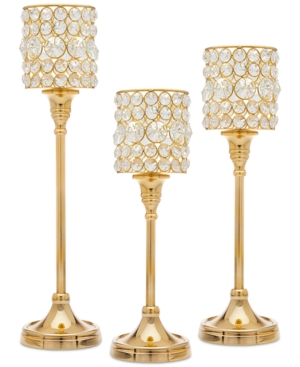 Godinger Lighting by Design 3Pc Crystal Taper Candlestick Set
