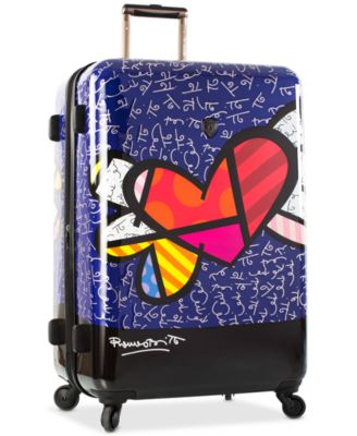 "Britto Heart with Wings 30"" Expandable Hardside Spinner Suitcase"