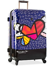 """Heys Britto Heart with Wings 30"""" Expandable Hardside Spinner Suitcase"""