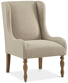 Barger Turned Leg Wing Chair, Quick Ship