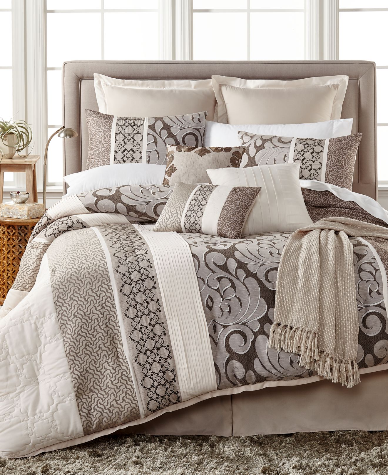 leighton 10-pc. comforter set, created for macy's - bed in a bag