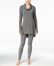 Cuddl Duds Softwear Stretch Cowl-Neck Tunic & Leggings