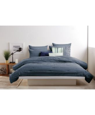 dkny loft stripe indigo comforters