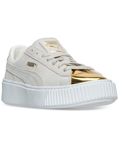 1649d89a306d ... Puma Women s Suede Platform Gold Casual Sneakers from Finish ...