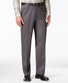 Men's Big & Tall Premium No Iron Khaki Classic Fit Flat Front Hidden Expandable Waistband Pants