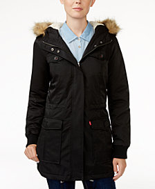 Levi's® Hooded Faux-Fur Sherpa-Lined Jacket