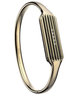 Fitbit Women's Flex 2 22k Gold-Plated Bangle Bracelet FB161MBGDL