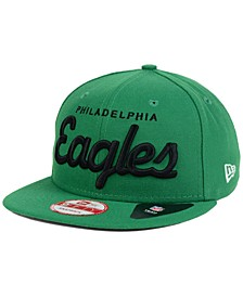 Philadelphia Eagles LIDS 20th Anniversary Script 9FIFTY Snapback Cap
