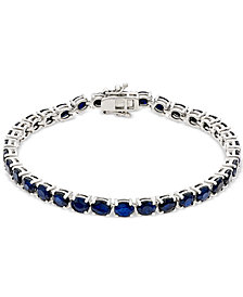 Sapphire Tennis Bracelet (17 ct. t.w.) in Sterling Silver, Created for Macy's