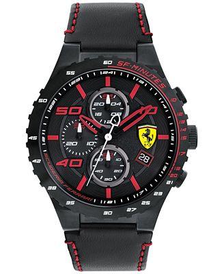 Ferrari Men's Chronograph Speciale Evo Chrono Black ...