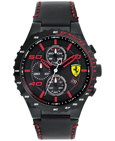 Ferrari Men's Chronograph Speciale Evo Chrono Black ...