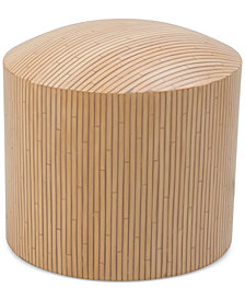 CLOSEOUT! Zuo Wassu Rattan Illuminated Stool