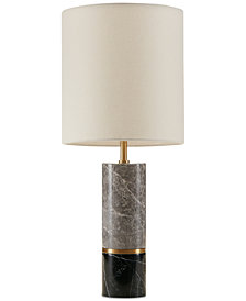 Madison Park Signature Weller Marble & Brass Table Lamp