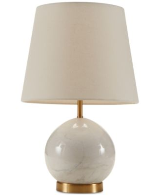 Madison Park Signature Linden Marble Brass Table Lamp Lighting