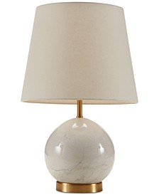 Madison Park Signature Linden Marble & Brass Table Lamp