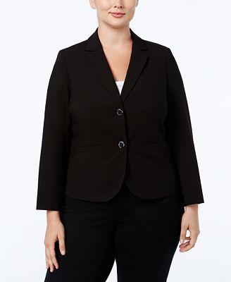 Calvin Klein Plus Size Two Button Jacket Jackets Women Macy S