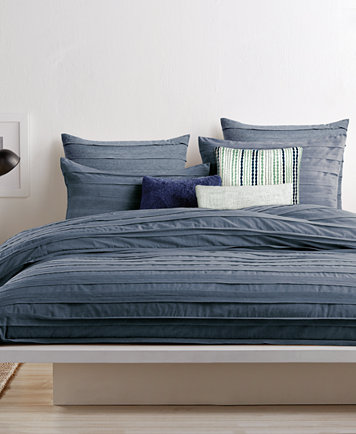 Closeout Dkny Loft Stripe Indigo King Duvet Cover