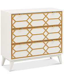 Parral Gold Lattice Accent Chest, Quick Ship