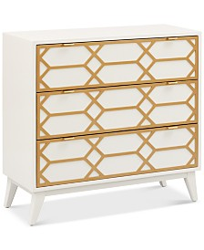 Leif Gold Lattice Accent Chest, Quick Ship