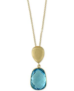Ocean Bleu by Effy Blue Topaz Pendant Necklace (8-1/6 ct. t.w.) in 14k Gold -  Effy Collection