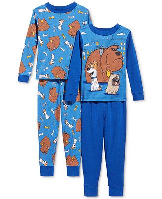 Ame 4 Pc The Secret Life Of Pets Pajama Set Toddler Boys