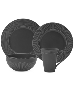 Mikasa Italian Countryside Graphite 16-Piece Dinnerware Set,