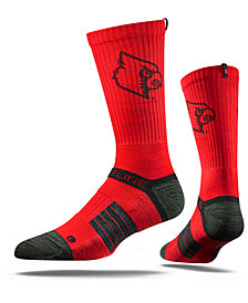 Strideline Men's Louisville Cardinals Crew Socks