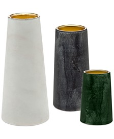 Lighting by Design 3-Pc. Marble Votive Set