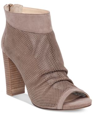 Vince Camuto Cosima Perforated Block-Heel Booties Women
