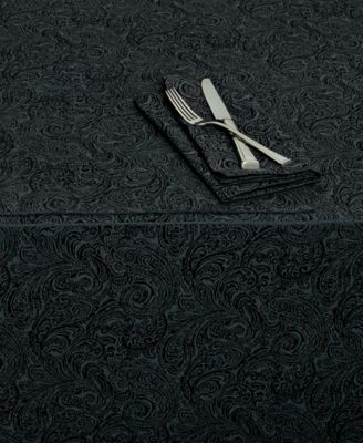 "Chelsea 70"" x 104"" Black Tablecloth"