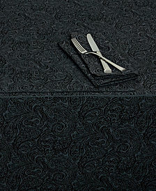 "Waterford Chelsea 70"" x 104"" Black Tablecloth"