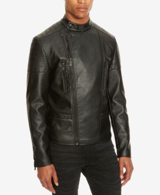 Kenneth cole leather jacket moto
